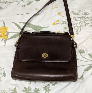 ❤️Coach Vintage Brown Leather Purse Handbag